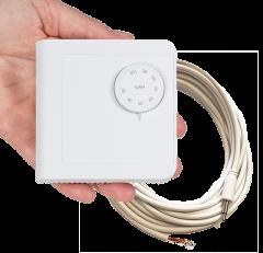 Hygrostat for vegg og 5 meter ledning med plugg